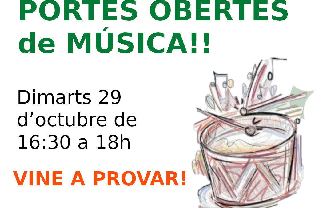 DIMARTS 29: Portes obertes de música!