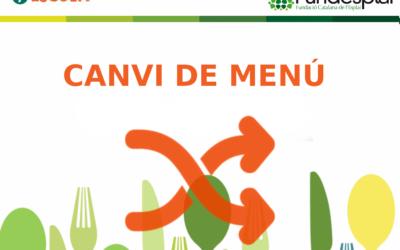 CANVIS DE MENÚS