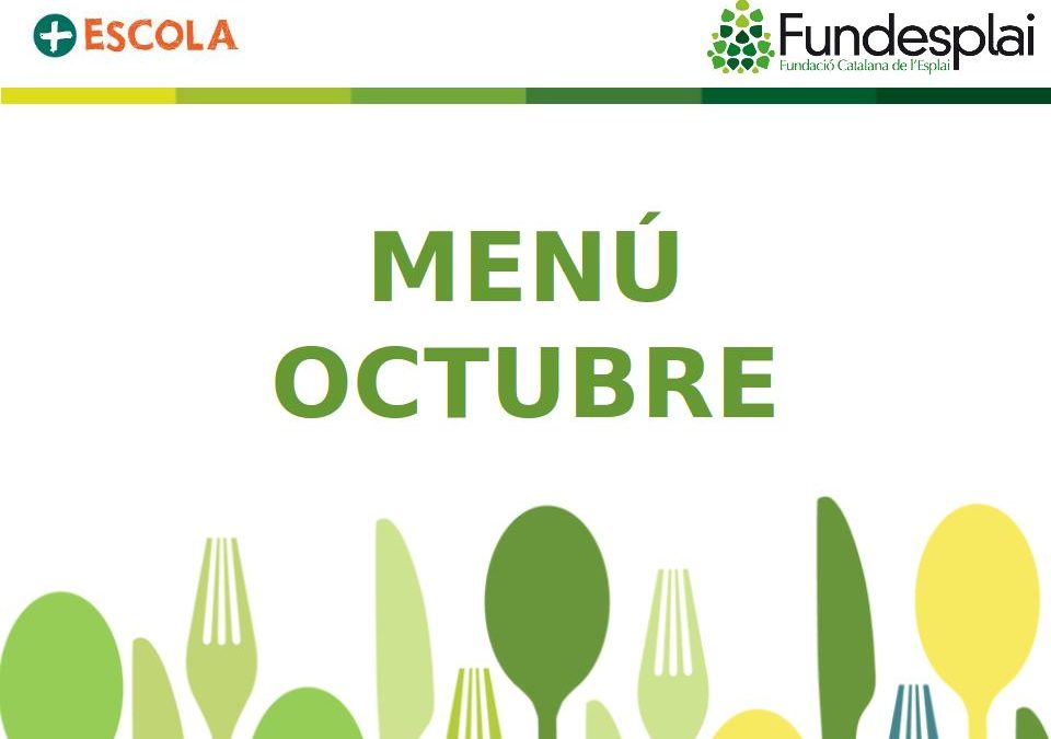 Menú d'octubre 2019
